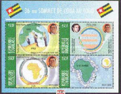 [The 36th Summit of the Organization of African Unity or OAU, Lome, type ]