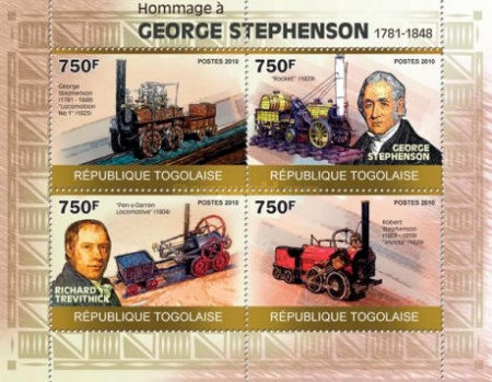 [Tribute to George Stephenson, 1781-1848, type ]