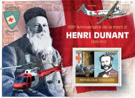 [The 100th Anniversary of the Death of Henri Dunant, Red Cross, type ]