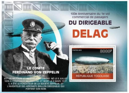 [The 100th Anniversary of the First Commercial Flight of the Dirigible Delag, type ]