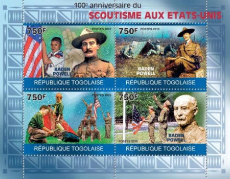 [The 100th Anniversary of Scouting in the US, Baden Powell, type ]