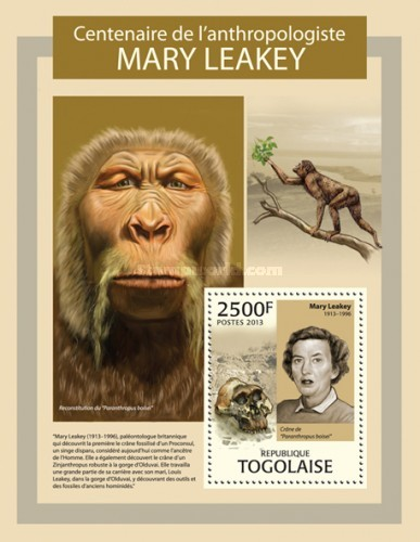 [The 100th Anniversary of the Birth of Mary Leakey, 1913-1996, type ]