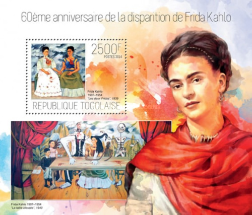 [Paintings - The 60th Anniversary of the Death of Frida Kahlo, 1907-1954, type ]