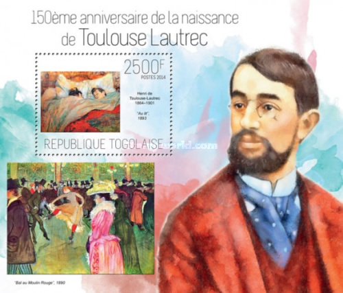 [Paintings - The 150th Anniversary of the Birth of Henri de Toulouse-Lautrec, 1864-1901, type ]