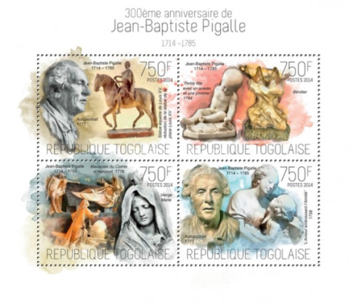 [The 300th Anniversary of the Birth of Jean-Baptiste Pigalle, 1714-1785, type ]