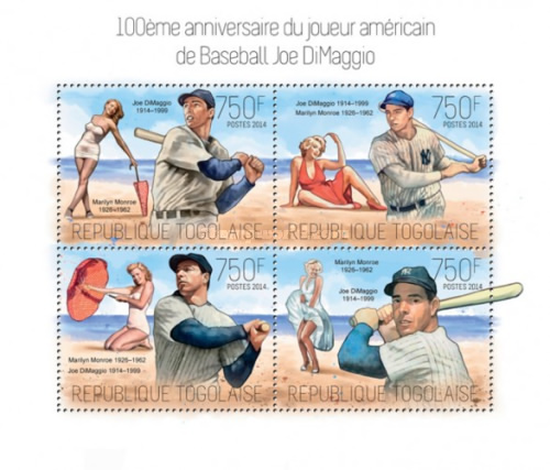 [Sports - The 100th Anniversary of the Birth of Joe DiMaggio, 1914-1999, type ]