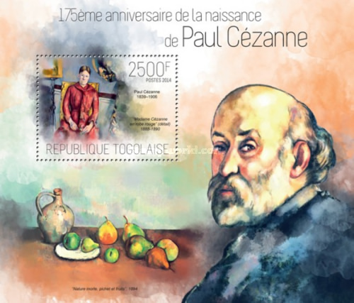[Paintings - The 175th Anniversary of the Birth of Paul Cezanne, 1839-1906, type ]
