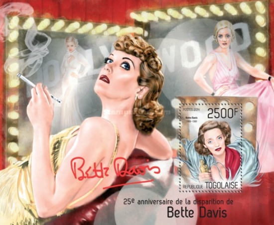 [The 25th Anniversary of the Death of Bette Davis, 1908-1989, type ]