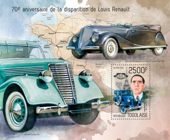 [Transportation - The 70th Anniversary of the Death of Louis Renault, 1877-1944, type ]
