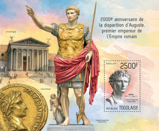 [The 2000th Anniversary of the Death of Augustus, First Emperor of the Roman Empire, 63 BC -14 AD, type ]