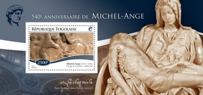 [The 540th Anniversary of the Birth of Michelangelo, 1475-1564, type ]
