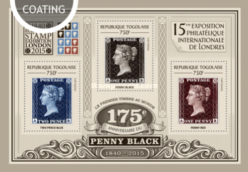 [1840 EUROPHILEX Stamp Exhibition, London 2015 - The 175th Anniversary of Penny Black, type ]