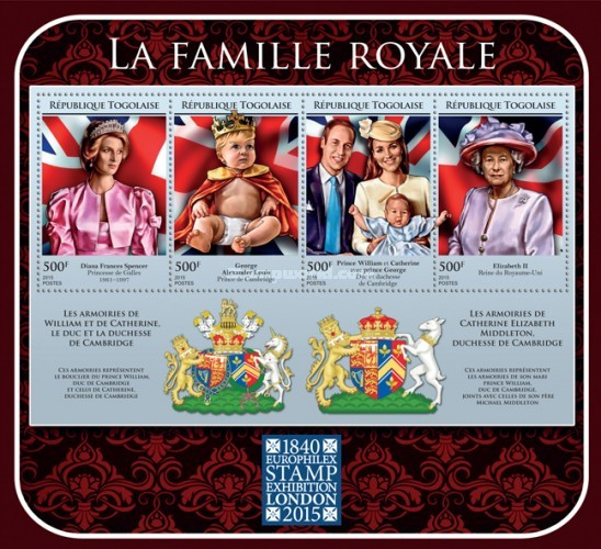 [1840 EUROPHILEX Stamp Exhibition, London 2015 - The Royal Family, type ]