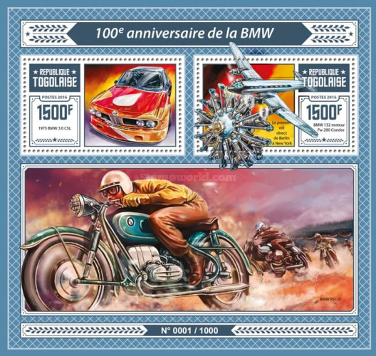 [Transportation - The 100th Anniversary of BMW, type ]