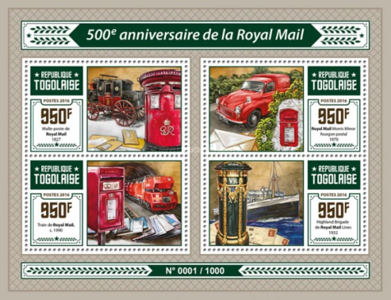 [The 500th Anniversary of the Royal Mail, type ]