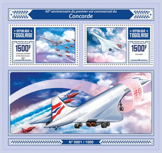 [Transportation - The 40th Anniversary of the First Commercial Flight of Concorde, type ]