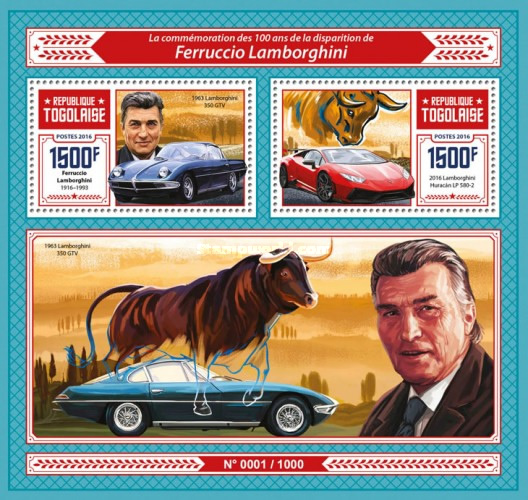 [Transportation - The 100th Anniversary of the Birth of Feruccio Lamborghini, 1916-1993, type ]