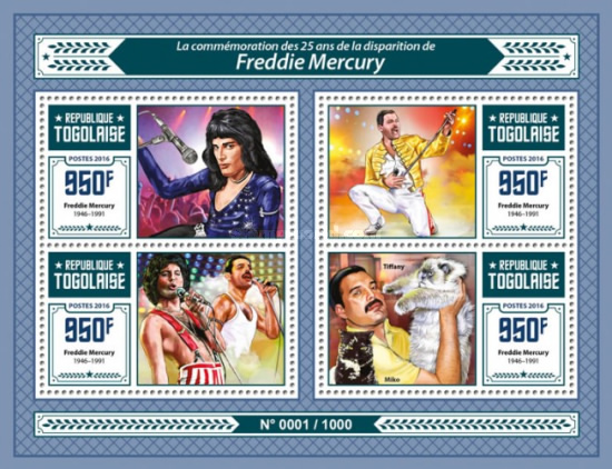 [The 25th Anniversary of the Death of Freddie Mercury, 1946-1991, type ]