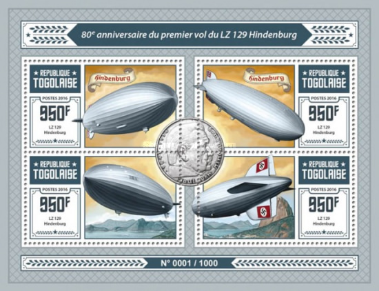 [Transportation - The 80th Anniversary of the First Flight of LZ 129 Hindenburg, type ]