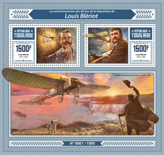 [The 80th Anniversary of the Death of Louis Bleriot, 1872-1936, type ]