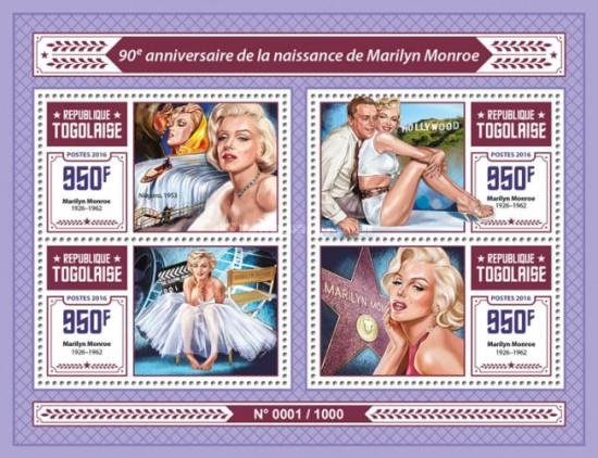 [The 90th Anniversary of the Birth of Marilyn Monroe, 1926-1962, type ]