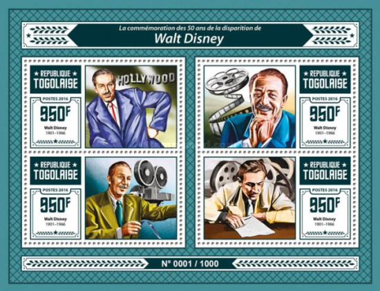 [The 50th Anniversary of the Death of Walt Disney, 1901-1966, type ]