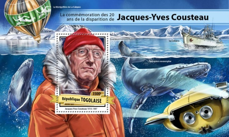 [The 20th Anniversary of the Death of Jacques-Yves Cousteau, 1910-1997, type ]
