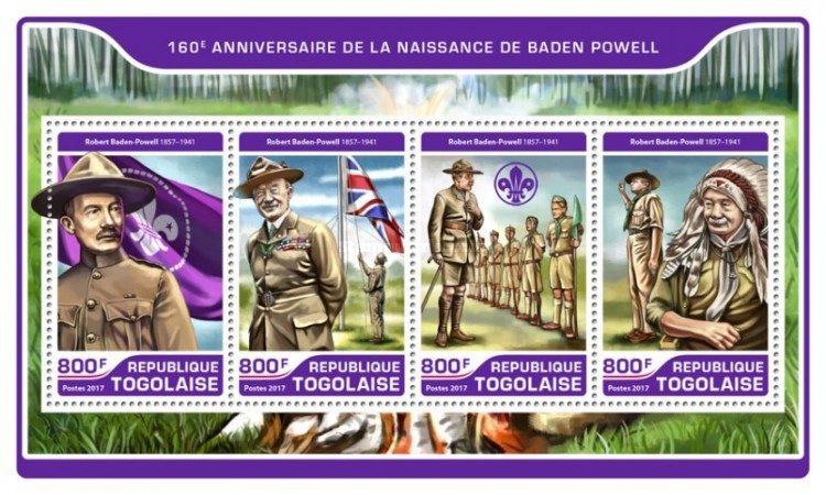 [The 160th Anniversary of the Birth of Robert Baden Powell, 1857-1941, type ]
