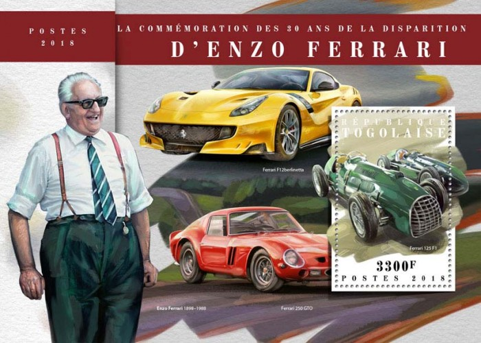 [The 30th Anniversary of the Death of Enzo Ferrari, 1898-1988, type ]