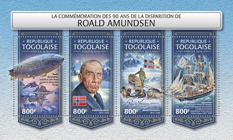 [The 90th Anniversary of the Death of Roald Amundsen, 1872-1928, type ]