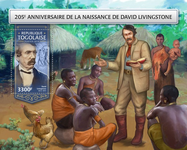 [The 205th Anniversary of the Birth of David Livingstone, 1813-1873, Typ ]