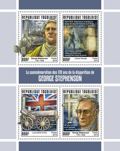 [The 170th Anniversary of the Death of George Stephenson, 1781-1848, Typ ]