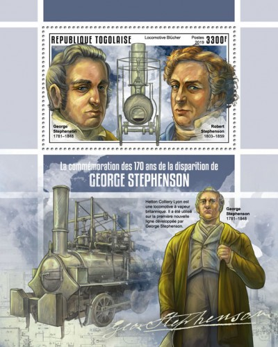 [The 170th Anniversary of the Death of George Stephenson, 1781-1848, type ]