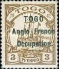 [German Togo Postage Stamps Overprinted - 3mm Between Lines, type A]