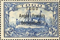 [German Togo Postage Stamps Overprinted - 3mm Between Lines, type A10]