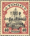 [German Togo Postage Stamps Overprinted - 2mm Between Lines, type A19]