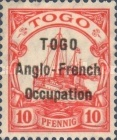 [German Togo Postage Stamps Overprinted - 3mm Between Lines, type A2]