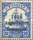 [German Togo Postage Stamps Overprinted -