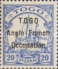 [German Togo Postage Stamps Overprinted - 3mm Between Lines, type A3]