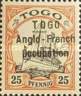 [German Togo Postage Stamps Overprinted - 3mm Between Lines, type A4]