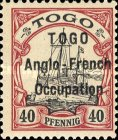 [German Togo Postage Stamps Overprinted - 3mm Between Lines, type A6]