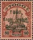 [German Togo Postage Stamps Overprinted - 3mm Between Lines, type A8]