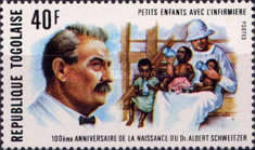 [The 100th Anniversary of the Birth of Dr. Albert Schweitzer, 1875-1965, type ACC]