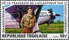 [The 50th Anniversary of Charles Lindbergh's Transatlantic Flight, type AGD]