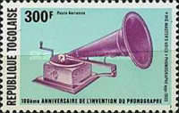 [Airmail - The 10th Anniversary of Invention of the Phonograph, type AJM]
