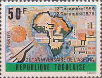 [The 20th Anniversary of The Agency for Aerial Navigation Safety in Africa and Madagascar or ASECNA, type AOF]