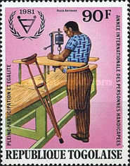 [Airmail - International Year of Disabled People, type ASL]