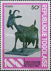 [The 100th Anniversary of the Birth of Pablo Picasso, 1881-1973 - Sculptures, type ASS]