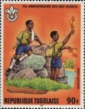 [Airmail - The 75th Anniversary of Boy Scout Movement, type ATV]