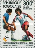 [Airmail - Football World Cup - Spain, type AUW]